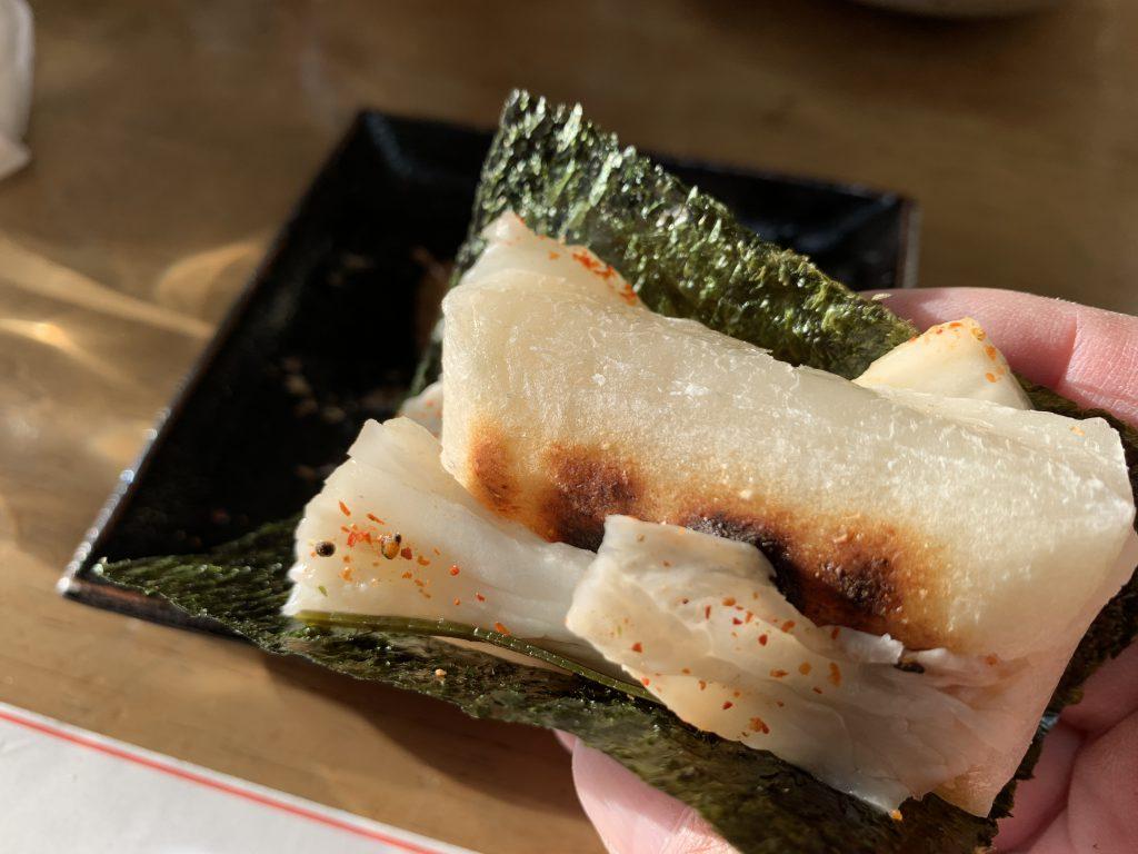 炭火焼き切り餅の白菜巻き2