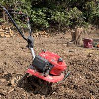 七輪BBQ用に食材作り 畑の開墾作業